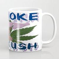 cannabis Mugs featuring TIMOTHY THE CANNABIS BEAR  by Timmy Ghee CBP