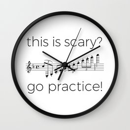 Go practice - clarinet Wall Clock