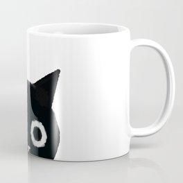 Spooked Kitty Black Creepy & Cute Cat Coffee Mug