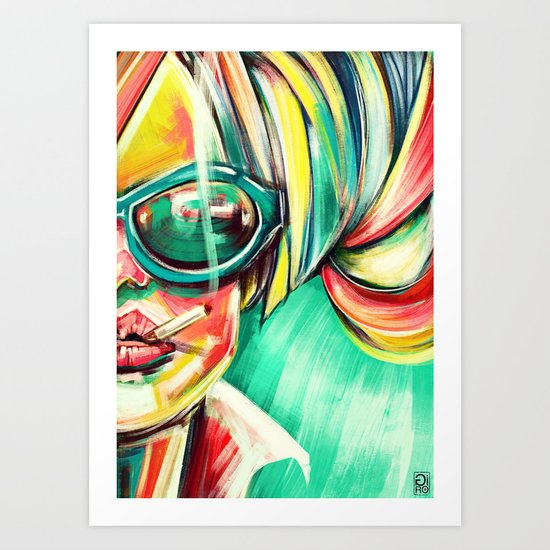 """Glowing 6"" Art Print"