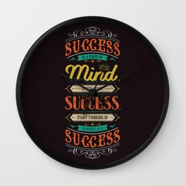 Lab No. 4 Success Is Joyce Brothers Life Inspirational Quote Wall Clock