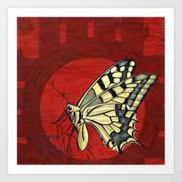 Edwin the Butterfly Art Print