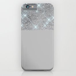 Silver Icing Sparkles iPhone Case