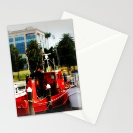 Little red tug Boat Stationery Cards