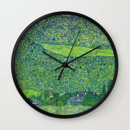 Klimt - Litzlberg on the Attersee (new editing) Wall Clock