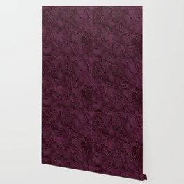 Royal Maroon Silk Moire Pattern Wallpaper