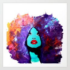 afro color Art Print
