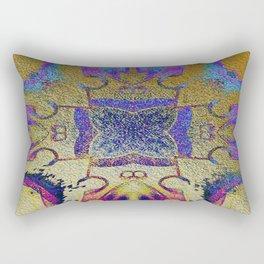 Gold Leaf Layers IV Rectangular Pillow