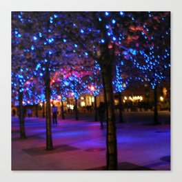 Blue Glowing Trees Canvas Print