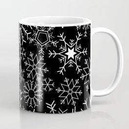 Invert snowflake pattern Coffee Mug