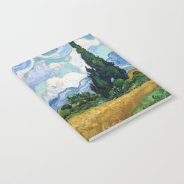 Wheat Field with Cypresses by Vincent van Gogh Notebook