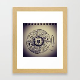 Brat Doll Art - Pretty Mandala Framed Art Print