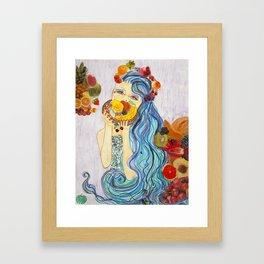 underwater market Framed Art Print