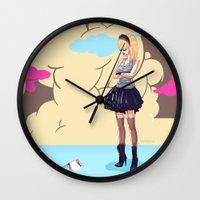 comic Wall Clocks featuring Comic by monoguru