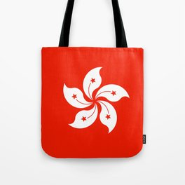 Flag of hong kong Tote Bag