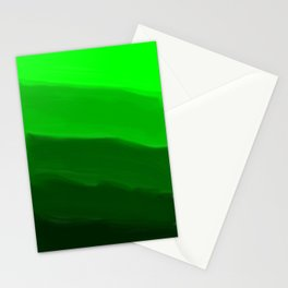Ombre in Green Stationery Cards