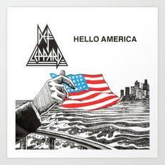 Hello America Art Print