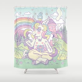 My Little Baphomet Shower Curtain