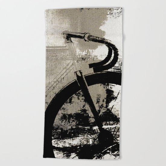 Coal Bike Beach Towel