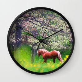 Spring Beauty Wall Clock