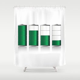 Battery Charge Indicator Shower Curtain