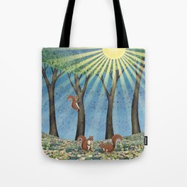 sunshine squirrels Tote Bag