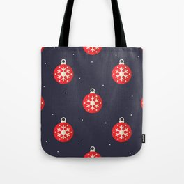 Red Christmas Ornament Pattern Tote Bag