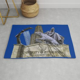 Pittsburgh Campus Collage Photography Print Rug