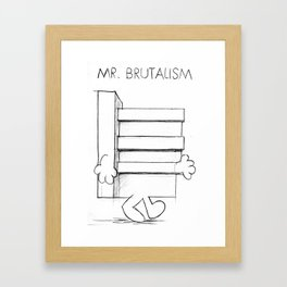 Mr. Brutalism Framed Art Print