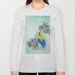Parrot Bouquet - Teal Long Sleeve T-shirt