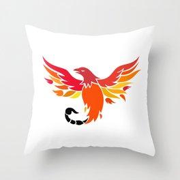 Phoenix With Scorpion Tail Icon Throw Pillow