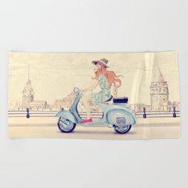 Istanbul tour Beach Towel