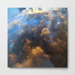 Blue Heaven - Stormy Waters Metal Print