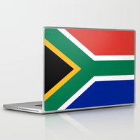 south africa Laptop & iPad Skins featuring Flag of South Africa by Neville Hawkins