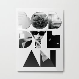 Bob Dylan Font Sunglasses Metal Print