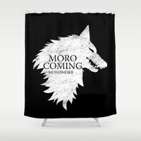 mononoke Shower Curtains featuring House Mononoke by machmigo