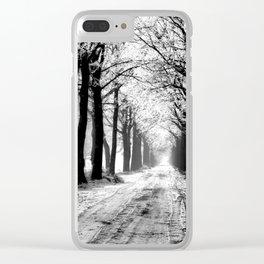 Winter Landscape (Winter Trees, Setting Sun) Clear iPhone Case