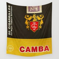cigarette Wall Tapestries featuring Camba - Vintage Cigarette by Fernando Vieira