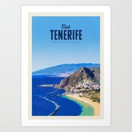 Visit Tenerife Art Print