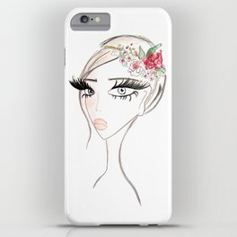 Flowers in  the hair iPhone Case