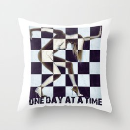 Sobriety Cool Original One Day At A Time AA Sober Tee Tees T-Shirt Nude Throw Pillow