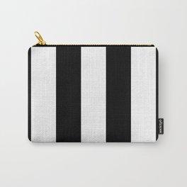 Retro Black & White Stripe Pattern Carry-All Pouch