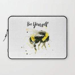 Bee Yourself - Punny Bee Laptop Sleeve