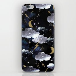 Cosmic lightning iPhone Skin