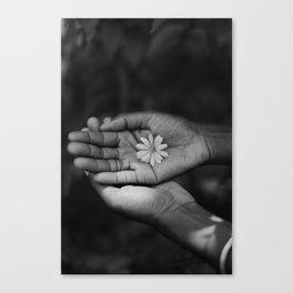 Flower (Black & White) Canvas Print