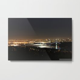 Vancouver Nite Scape Metal Print