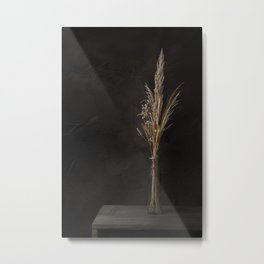 Still life with dried flowers Metal Print