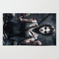 tomb raider Area & Throw Rugs featuring Tomb Raider by Max Grecke