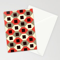 Hexagon pattern (red) Stationery Cards