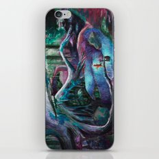 Psychedelic forest iPhone & iPod Skin